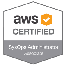 Associate level AWS SysOps Administrator certificate